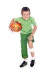 футбол мальчика шарика поврежденный Стоковое фото RF