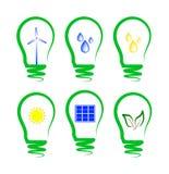 εναλλακτικός ενεργειακός συμβολισμός έννοιας Στοκ εικόνα με δικαίωμα ελεύθερης χρήσης