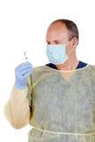 проверять шприц доктора Стоковая Фотография