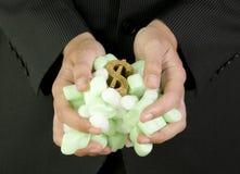 Защищать ваш символ доллара финансов Стоковое Изображение