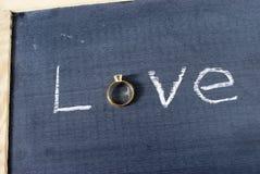 δαχτυλίδι αγάπης Στοκ Εικόνες