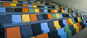 色的位子 库存照片
