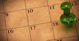 预约计划设置 免版税库存照片