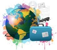 五颜六色的概念旅行 免版税库存图片