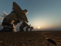 设备无线电望远镜 免版税库存图片