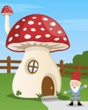 动画片房子蘑菇 免版税库存照片