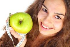 苹果厘米妇女 免版税库存照片