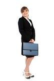 有公文包的女实业家 免版税库存照片