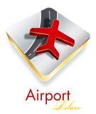 机场公司奢侈设计徽标 免版税图库摄影