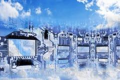 облако вычисляя схематическое изображение Стоковая Фотография
