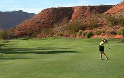 高尔夫球摇摆 图库摄影