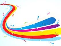 Абстрактная цветастая музыкальная предпосылка Стоковая Фотография
