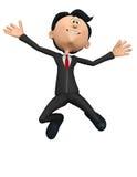 Скачка бизнесмена шальная Стоковое Изображение RF