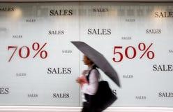 магазин рекламируя сбываний Стоковое Изображение