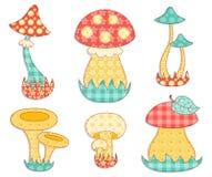 查出的蘑菇补缀品集 图库摄影