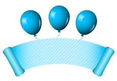 раздувает голубой перечень Стоковое Фото