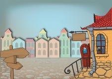 городок улицы Стоковые Изображения