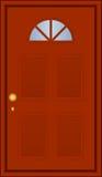 棕色门 免版税库存照片