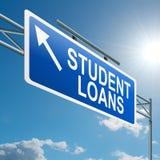 概念贷款学员 免版税库存照片