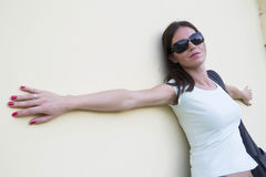 солнечные очки девушки Стоковая Фотография
