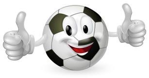 μασκότ ποδοσφαίρου σφαιρών Στοκ εικόνα με δικαίωμα ελεύθερης χρήσης