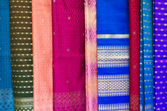 手工制造老挝模式纺织品 免版税库存照片