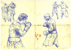 拳击比赛 免版税图库摄影