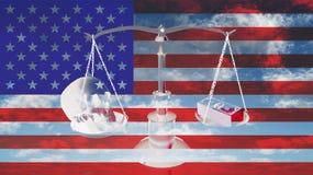 美国平衡 图库摄影