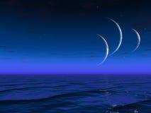 外籍行星上升世界 库存照片