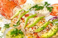 龙虾沙拉 免版税库存图片