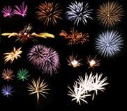 πυροτεχνήματα συλλογής Στοκ Φωτογραφίες