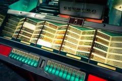 Музыкальный автомат сбора винограда Стоковая Фотография RF