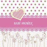 婴孩可爱的阵雨 免版税库存图片