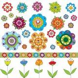 цветки установили Стоковые Изображения RF