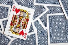 πόκερ ανασκόπησης Στοκ φωτογραφία με δικαίωμα ελεύθερης χρήσης