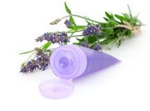 奶油色淡紫色安慰性的管 库存图片