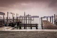 清早威尼斯意大利 免版税图库摄影