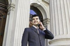 κλήση που κατασκευάζει το τηλέφωνο Στοκ φωτογραφίες με δικαίωμα ελεύθερης χρήσης