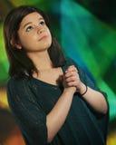青少年的祷告 库存图片