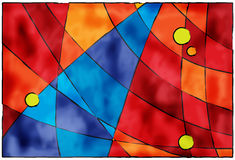 抽象背景蓝色红色 免版税库存图片