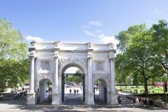曲拱伦敦大理石英国 免版税库存照片