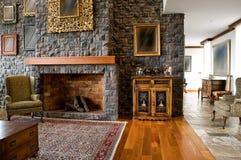 Серия дизайна интерьера: классицистическая живущая комната Стоковое Изображение RF
