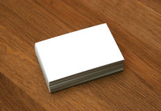 κενές επαγγελματικές κάρτες Στοκ Φωτογραφία