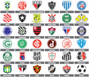 бразильские команды футбола Стоковое Фото