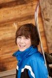 σνόουμπορντ σκι διακοπών αγοριών Στοκ εικόνες με δικαίωμα ελεύθερης χρήσης