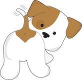 逗人喜爱的小狗背面图 免版税库存图片