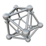 分子抽象的格子 图库摄影