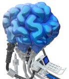 εγκέφαλος που συνδέεται με καλώδιο Στοκ φωτογραφίες με δικαίωμα ελεύθερης χρήσης