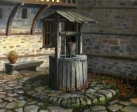 жизнь фонтана Стоковая Фотография