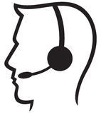 символ шлемофона Стоковое Изображение